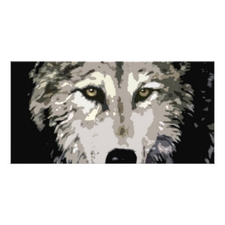 Grey Wolf Photo Card Template