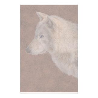Grey Wolf Portrait Wildlife Art Customised Stationery