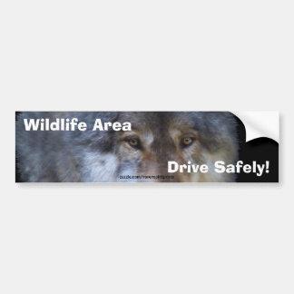 Grey Wolf Road Safety Bumper Sticker