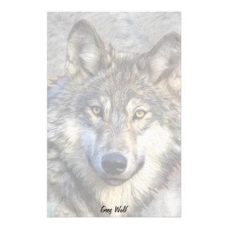 Grey Wolf Customized Stationery