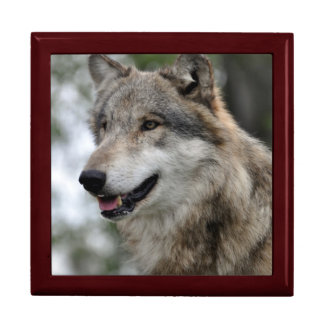 Grey Wolf Tile Box
