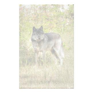 Grey Wolf & Wilderness Photo Gift Custom Stationery