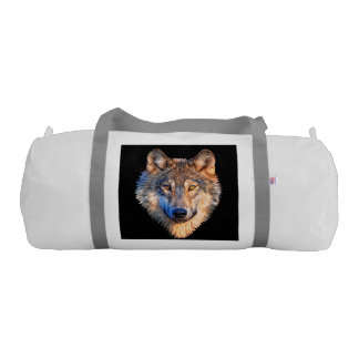 Grey wolf - wolf face gym bag