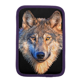 Grey wolf - wolf face iPad mini sleeve