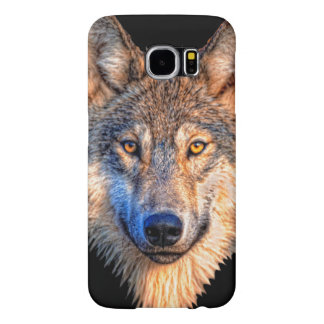 Grey wolf - wolf face samsung galaxy s6 cases