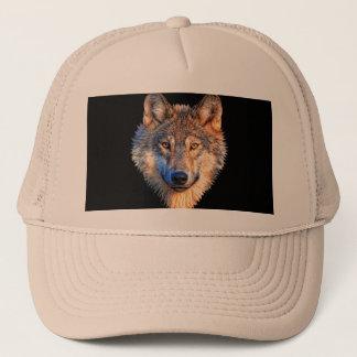 Grey wolf - wolf face trucker hat