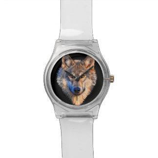 Grey wolf - wolf face watch