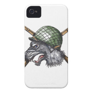 Grey Wolf WW2 Helmet Crossed Rifles Tattoo Case-Mate iPhone 4 Cases