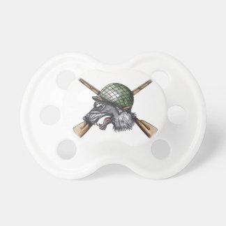 Grey Wolf WW2 Helmet Crossed Rifles Tattoo Dummy