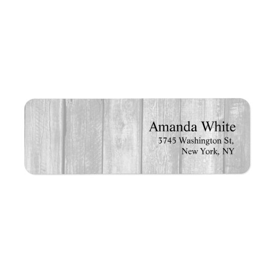 Grey Wood Plain Elegant Minimalist Modern Return Address Label
