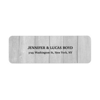 Grey Wood Unique Retro Style Classical Sheet Return Address Label