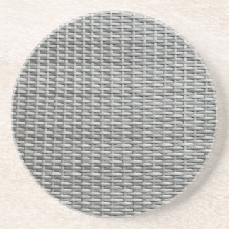 Grey woven webbing background coasters
