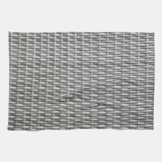 Grey woven webbing background towels