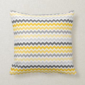 Grey Yellow Chevron Decorative Pillow Cushions
