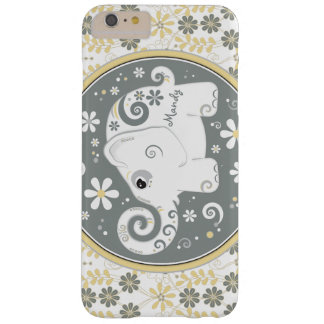 Grey Yellow White Elephant Daisy Floral Barely There iPhone 6 Plus Case
