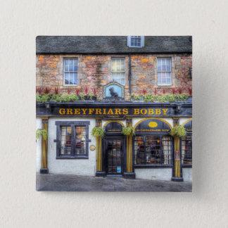 Greyfriars Bobby Pub Edinburgh 15 Cm Square Badge