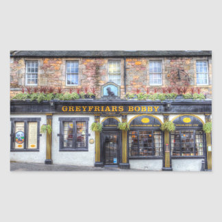 Greyfriars Bobby Pub Edinburgh Rectangular Sticker