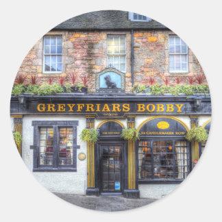 Greyfriars Bobby Pub Edinburgh Round Sticker
