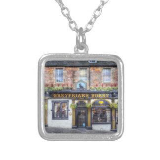 Greyfriars Bobby Pub Edinburgh Silver Plated Necklace