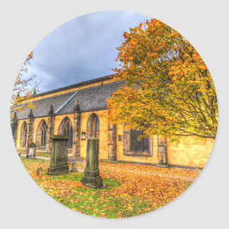 Greyfriars Kirk Church Edinburgh Classic Round Sticker
