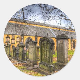 Greyfriars Kirk Church Round Sticker