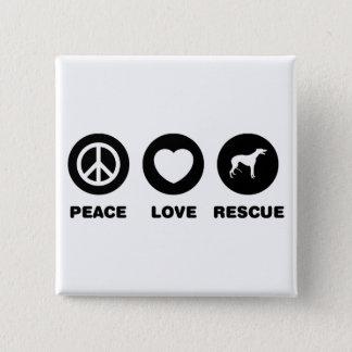 Greyhound 15 Cm Square Badge