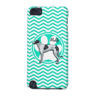 Greyhound Aqua Green Chevron iPod Touch (5th Generation) Case
