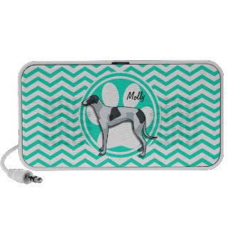 Greyhound Aqua Green Chevron Speaker