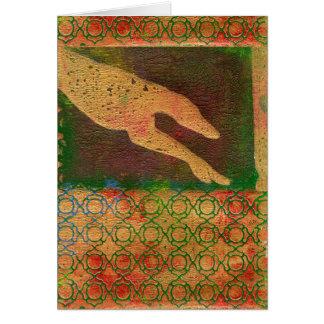 Greyhound art card (g413)