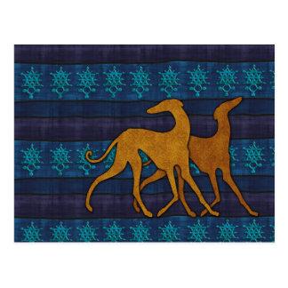 Greyhound azawakh postcard