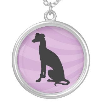Greyhound  Black Silhouette - Necklace