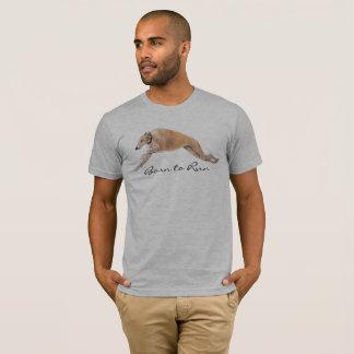 Greyhound Born to Run Dog Art T Shirt