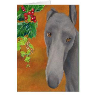 Greyhound Christmas card (a414)
