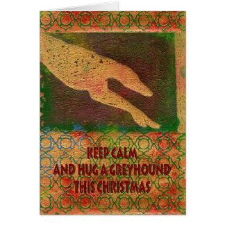 Greyhound Christmas card (g412)