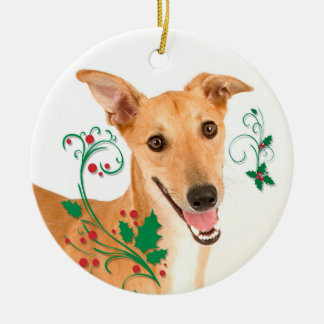 Greyhound Christmas Ornament