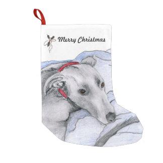 Greyhound Christmas stocking (a33)