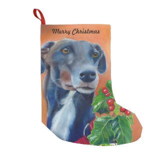 Greyhound Christmas stocking (a337)
