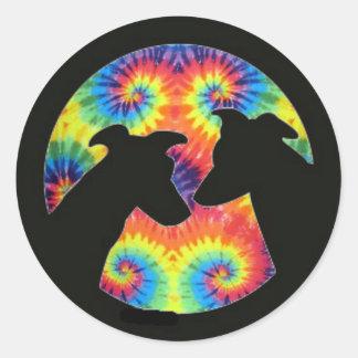 Greyhound Classic Round Sticker