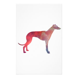 Greyhound cosmos silhouette stationery