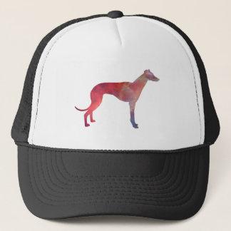 Greyhound cosmos silhouette trucker hat