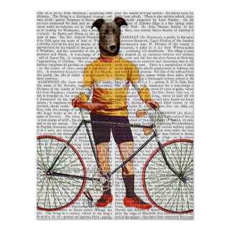 Greyhound Cyclist Poster