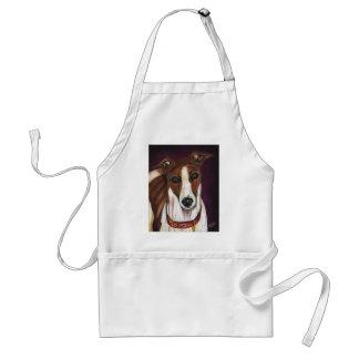 Greyhound Dog Art - Royalty Apron