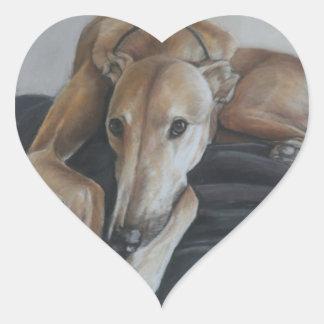 Greyhound Dog Art Sticker