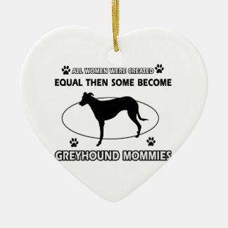 Greyhound dog designs ceramic ornament
