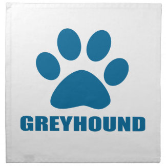 GREYHOUND DOG DESIGNS NAPKIN
