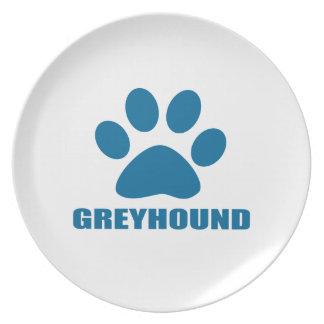 GREYHOUND DOG DESIGNS PLATE
