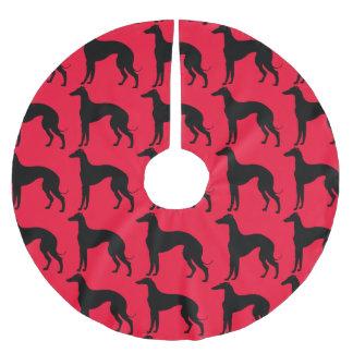 Greyhound Dog Pattern Brushed Polyester Tree Skirt