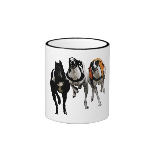 GREYHOUND DOG RACE MUGS