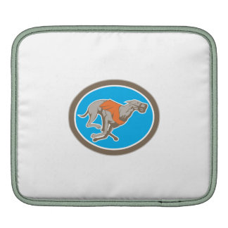 Greyhound Dog Racing Circle Retro Sleeve For iPads