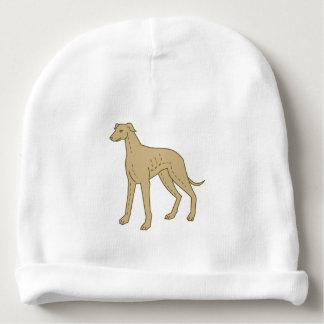 Greyhound Dog Standing Mono Line Baby Beanie